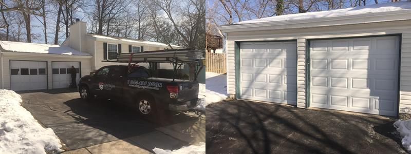 garage door before and after alexandria